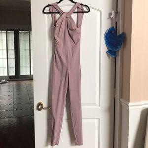 BNWT ASOS mauve jumpsuit open back keyhole front
